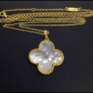 Jewelry - Mother Of Pearl Four Leaf Clover Flower Necklace